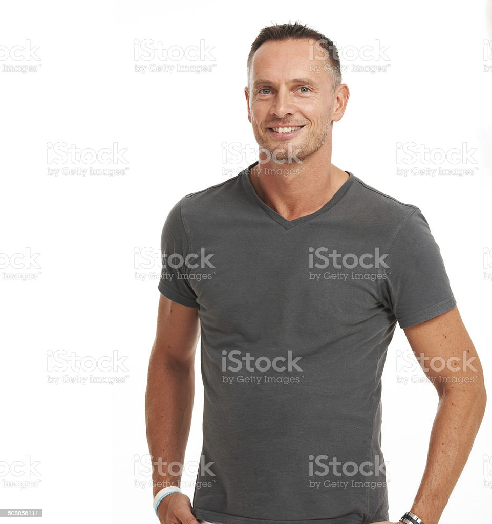 My confidence keeps me smiling stock photo