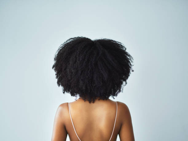 My curls, my crown stock photo