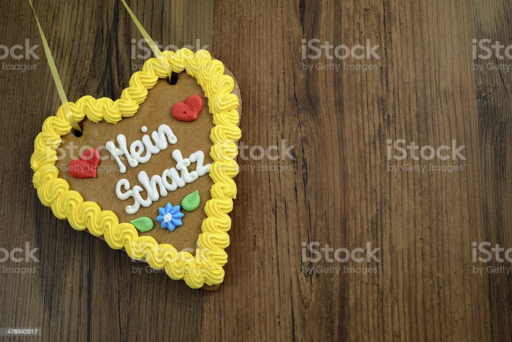 My darling gingerbread heart for Oktoberfest royalty-free stock photo