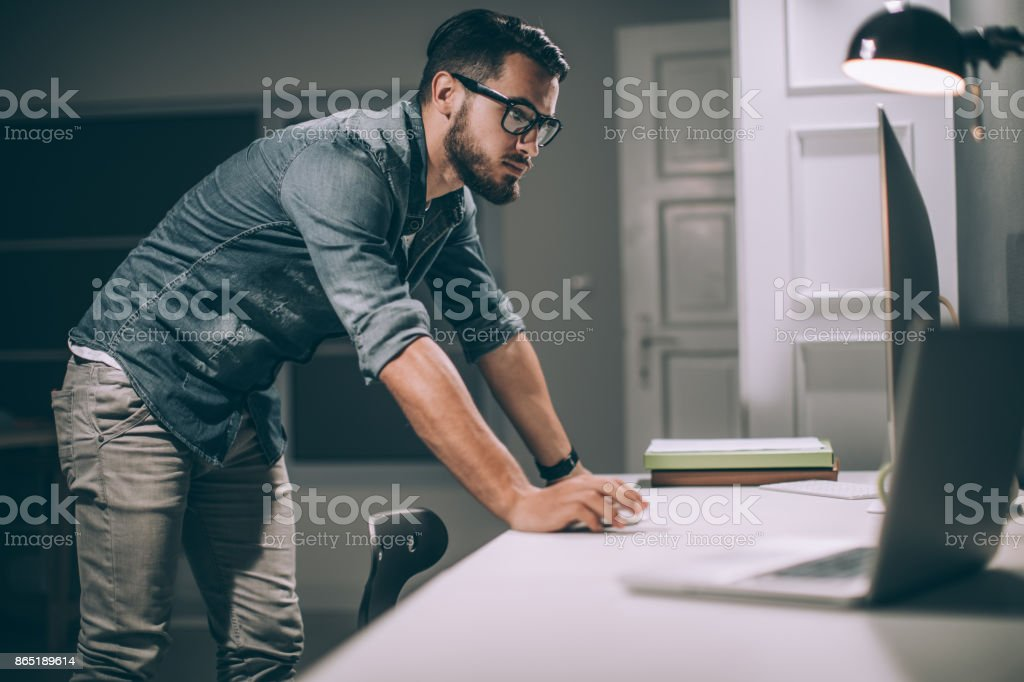 My day is over when the job is done stock photo