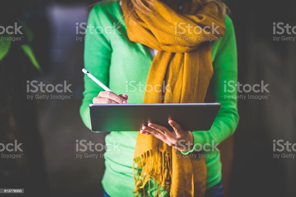 My digital  tablet stock photo
