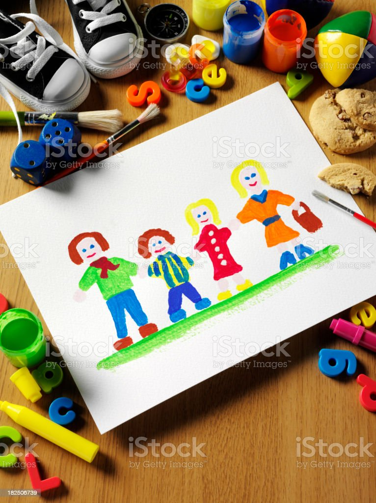 My Family Painting royalty-free stock photo