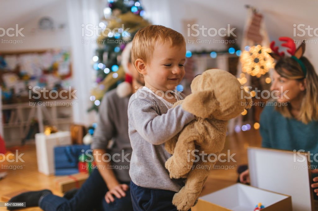 My favorite Christmas gift royalty-free stock photo