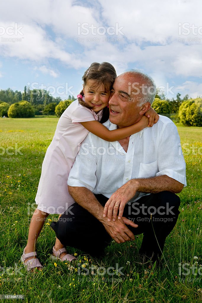 My favourite grandfather royalty-free stock photo