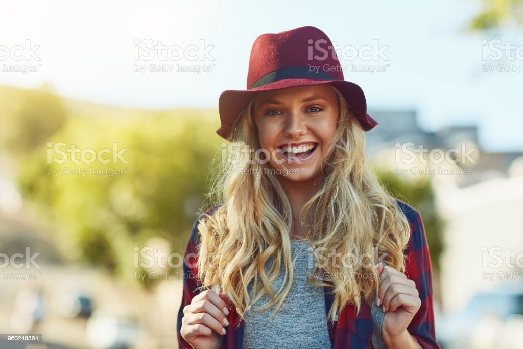 My favourite thing is going where I've never been stock photo
