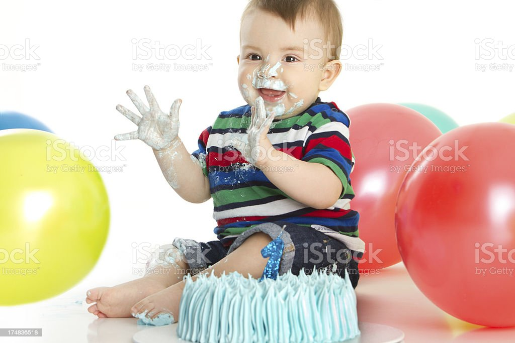 My first birthday royalty-free stock photo