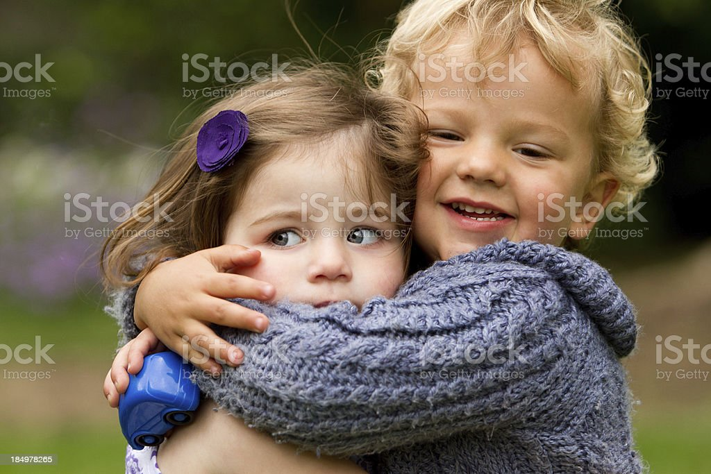 My first kiss - harassment royalty-free stock photo