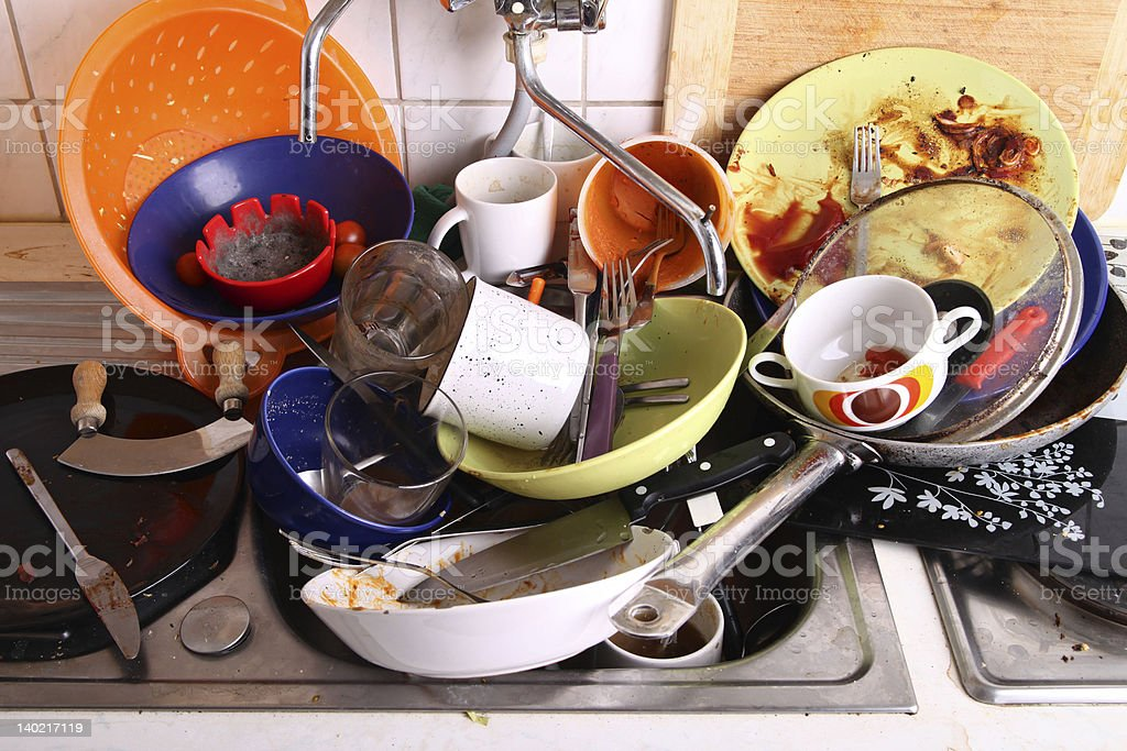 my flatmate hasn't done the chores again royalty-free stock photo