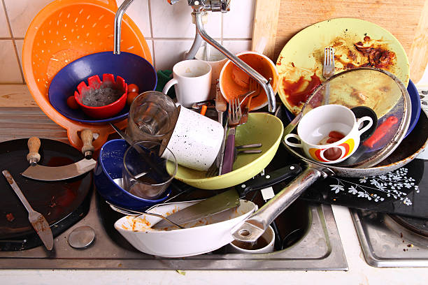 my flatmate hasn't done the chores again stock photo