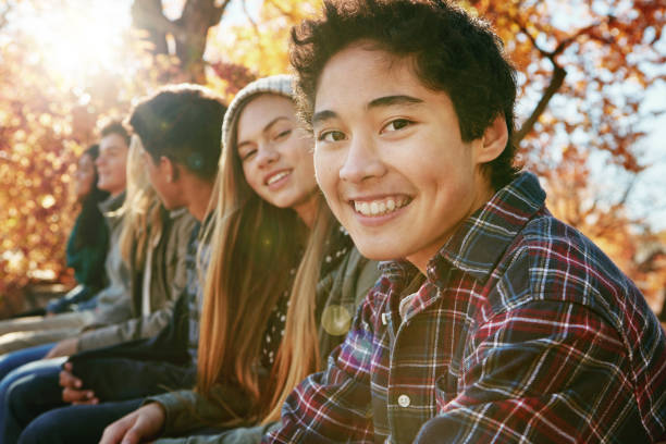 my go to people for happy times - teenager stock photos and pictures