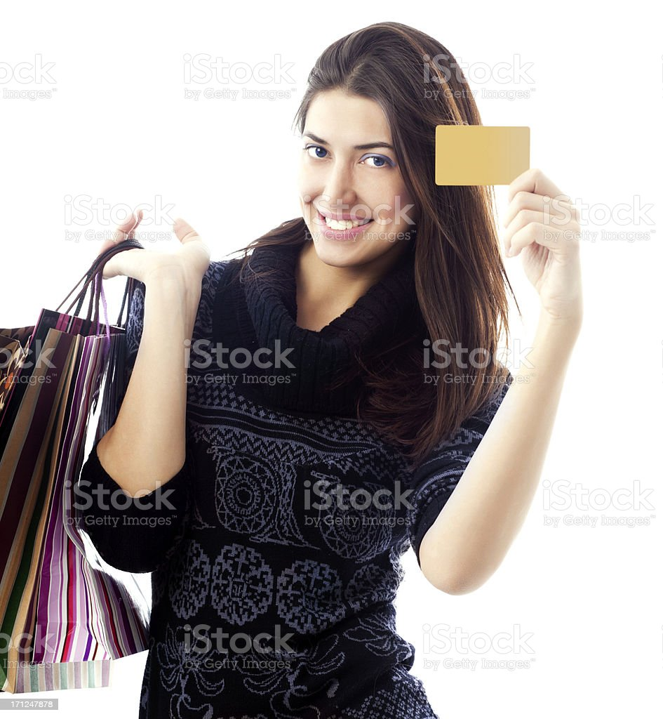 My gold card stock photo
