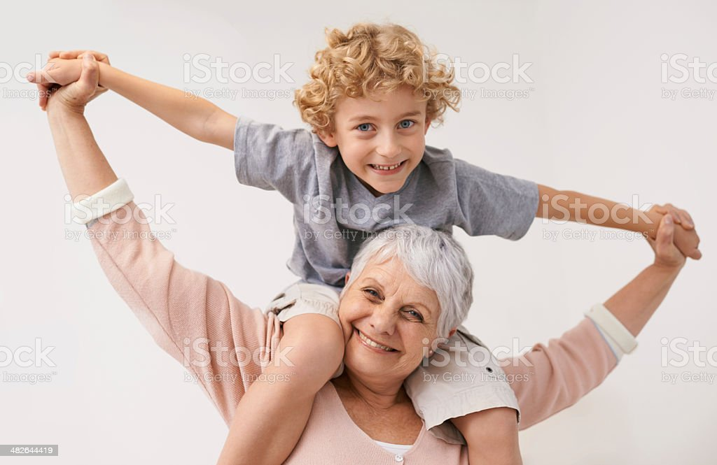 My gran is the greatest! stock photo