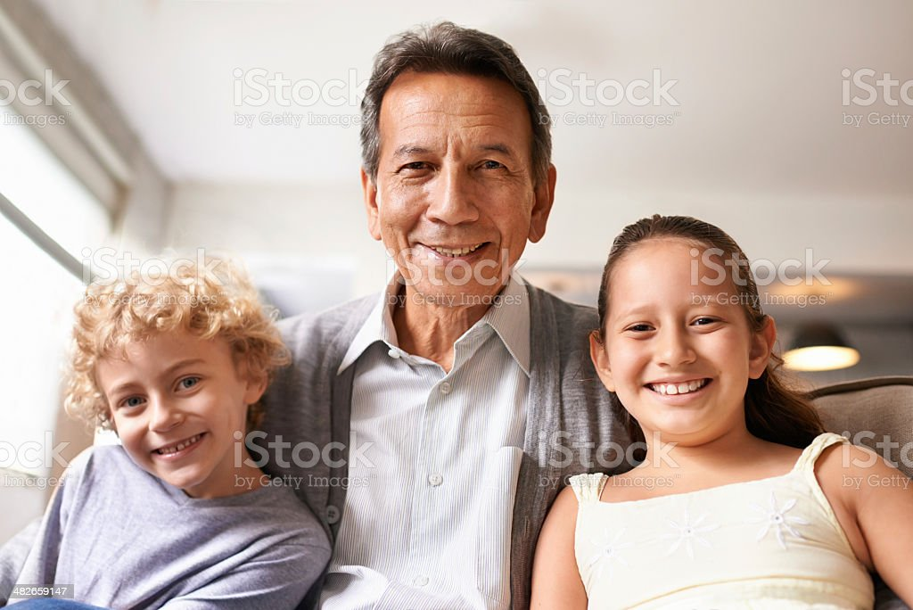 My grandkids are a blessing! royalty-free stock photo