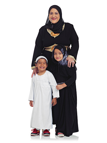 Studio portrait of a muslim grandmother with her two grandchildren isolated on whitehttp://195.154.178.81/DATA/shoots/ic_784902.jpg