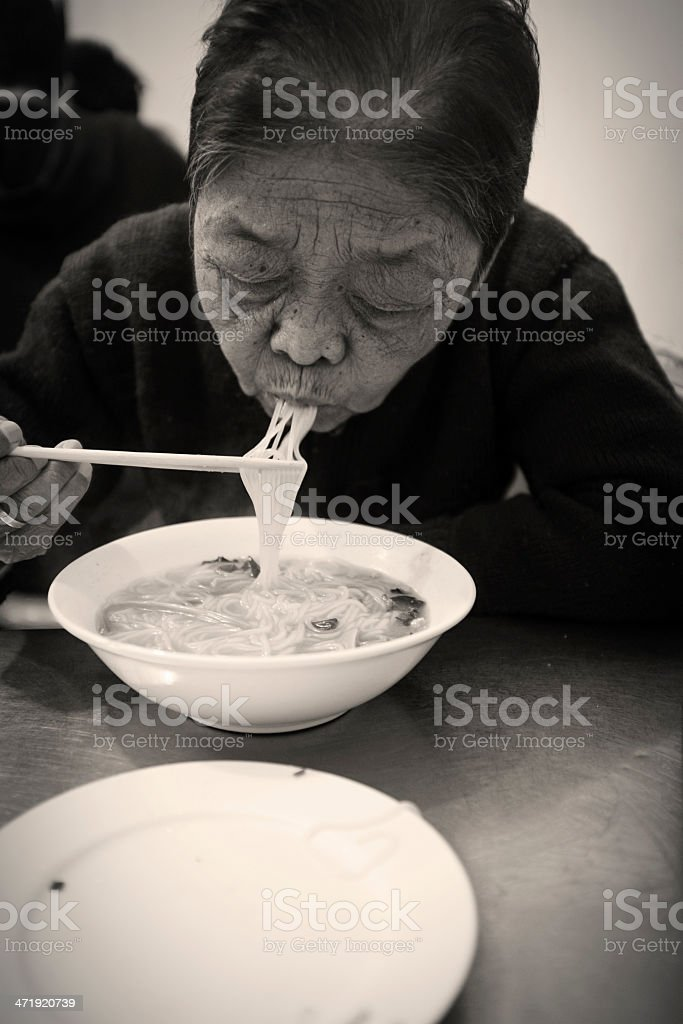 My grandmother at lunch royalty-free stock photo