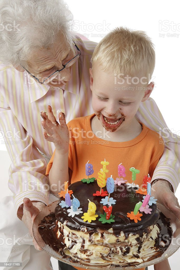 my grandmother's birthday cake royalty-free stock photo