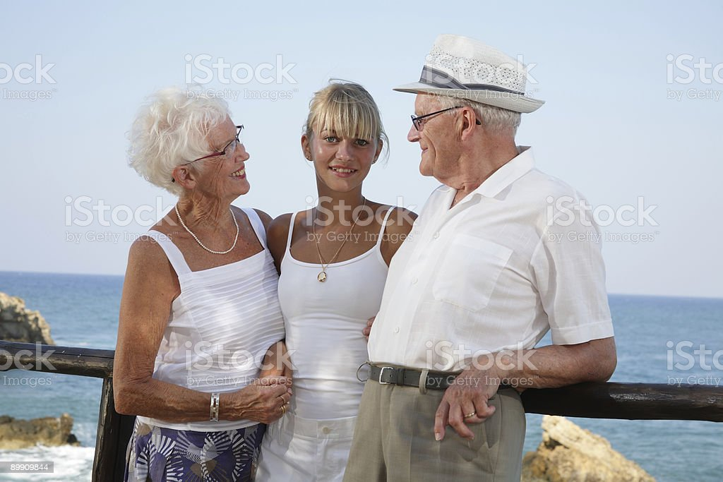 my grandparents and I royalty-free stock photo
