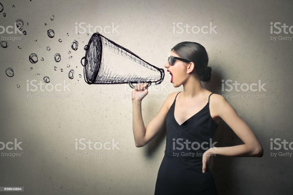 My graphic megaphone stock photo