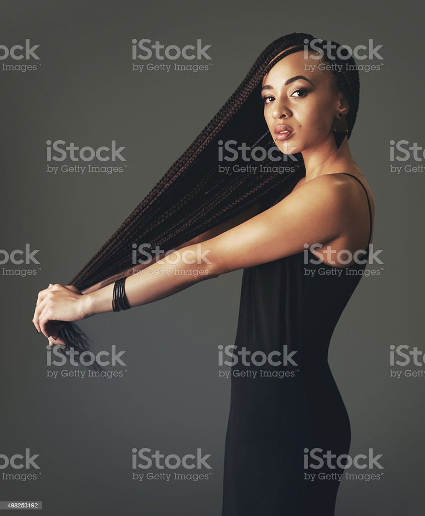 My haircare game is strong stock photo