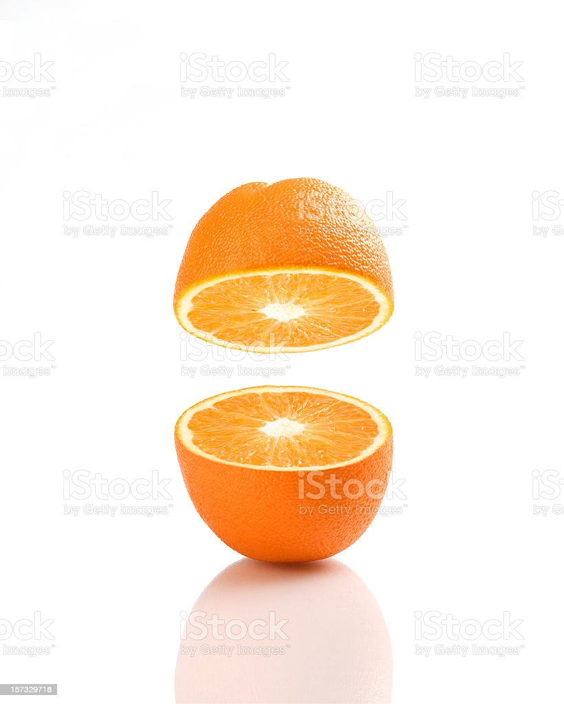 My half orange stock photo