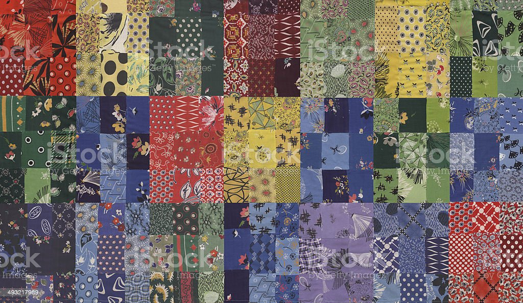 my handmade quilt pattern stock photo