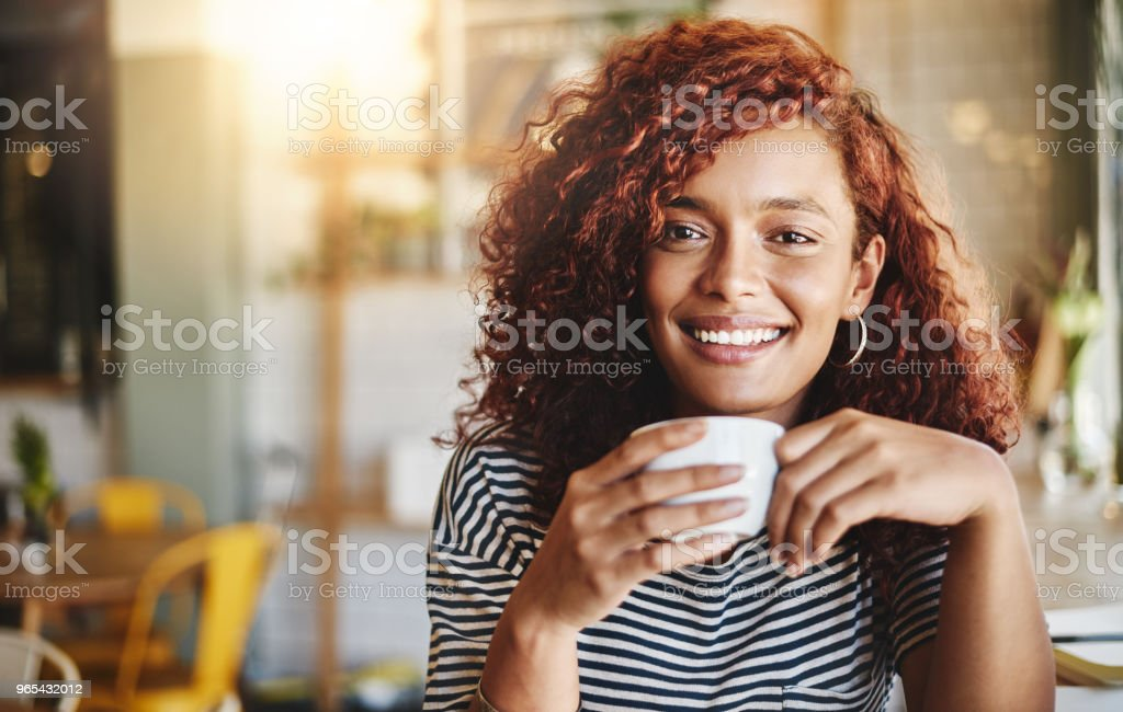 My happiness is fueled by coffee royalty-free stock photo