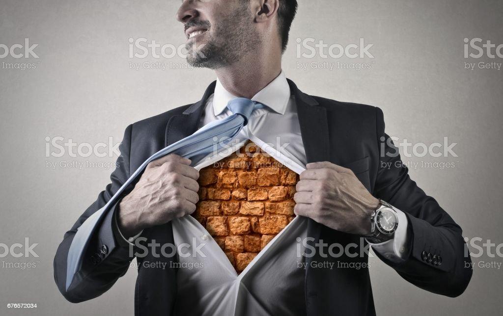 My heart is like a some bricks stock photo