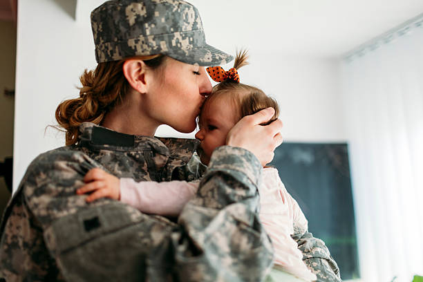 my hero is back home. - armed forces stock photos and pictures