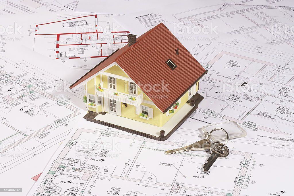 my house and key royalty-free stock photo