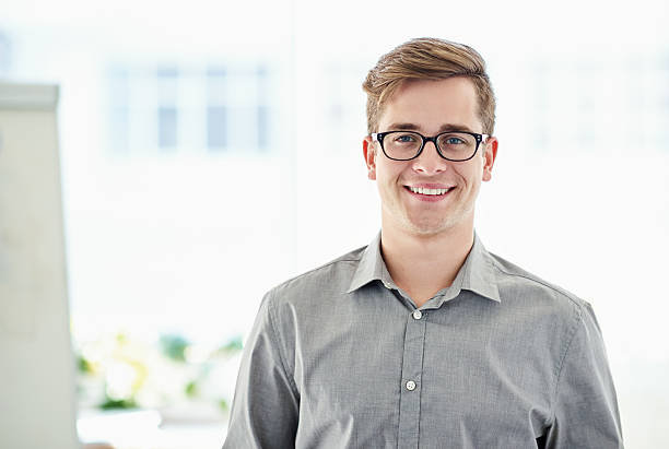 my job fulfills me - one young man only stock photos and pictures