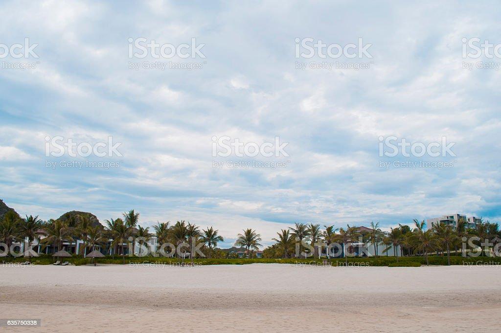 My Khe beach in Danang, Vietnam stock photo