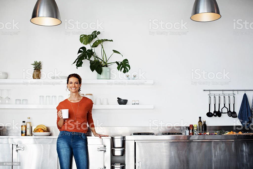 My kitchen is the favorite part of my home stock photo