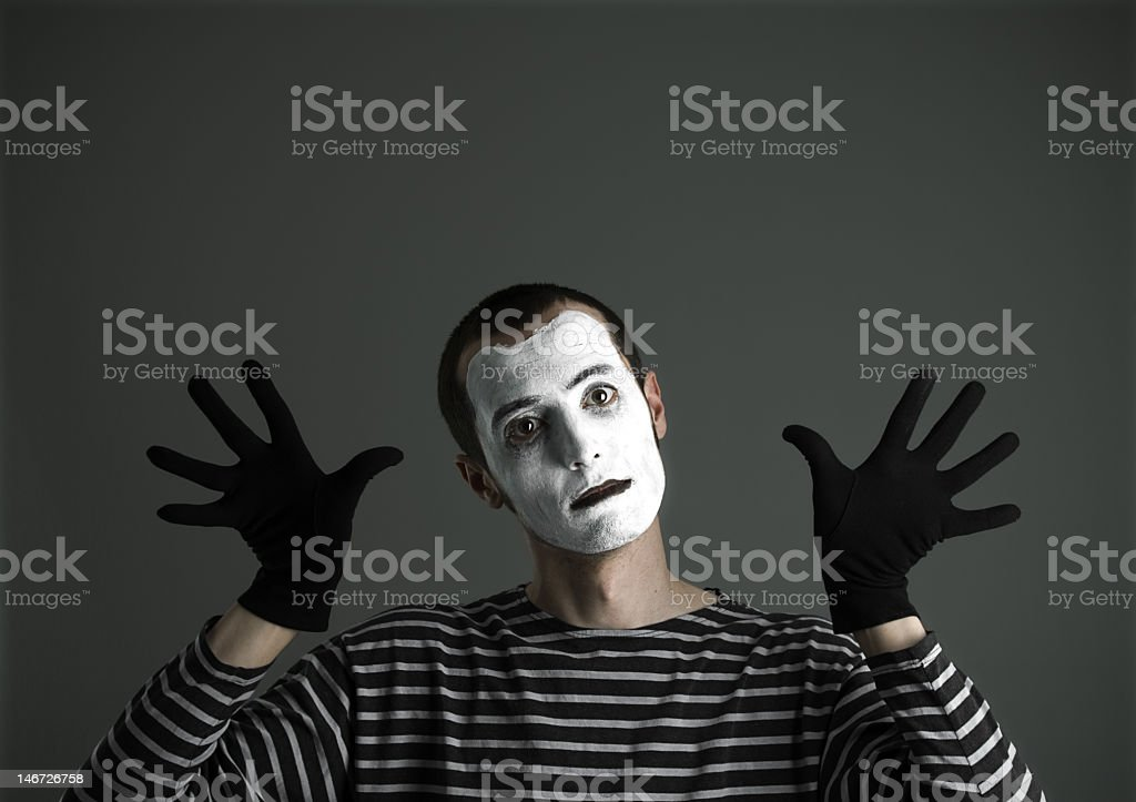 My language is silence stock photo