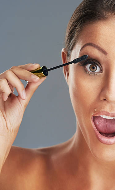 my lashes love this new mascara - omg stock photos and pictures