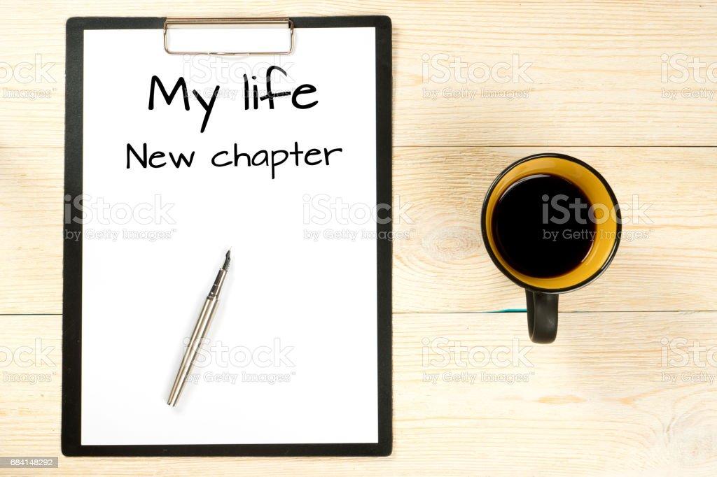 my life, new chapter zbiór zdjęć royalty-free
