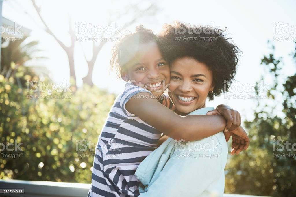 My little girl and I stock photo