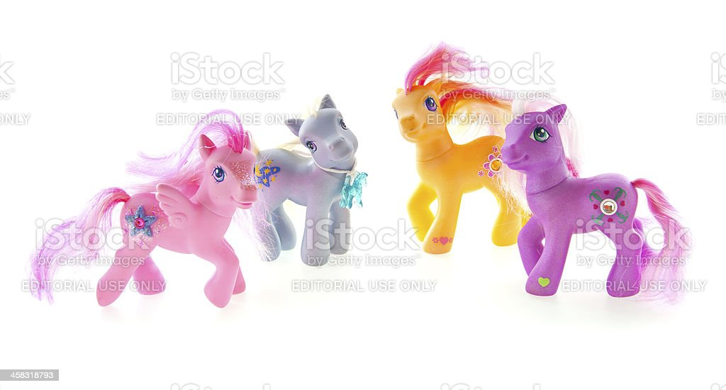 My Little Pony Figures stock photo