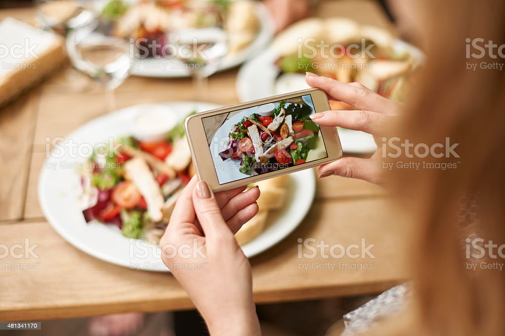 My lunch looks so delicious stock photo