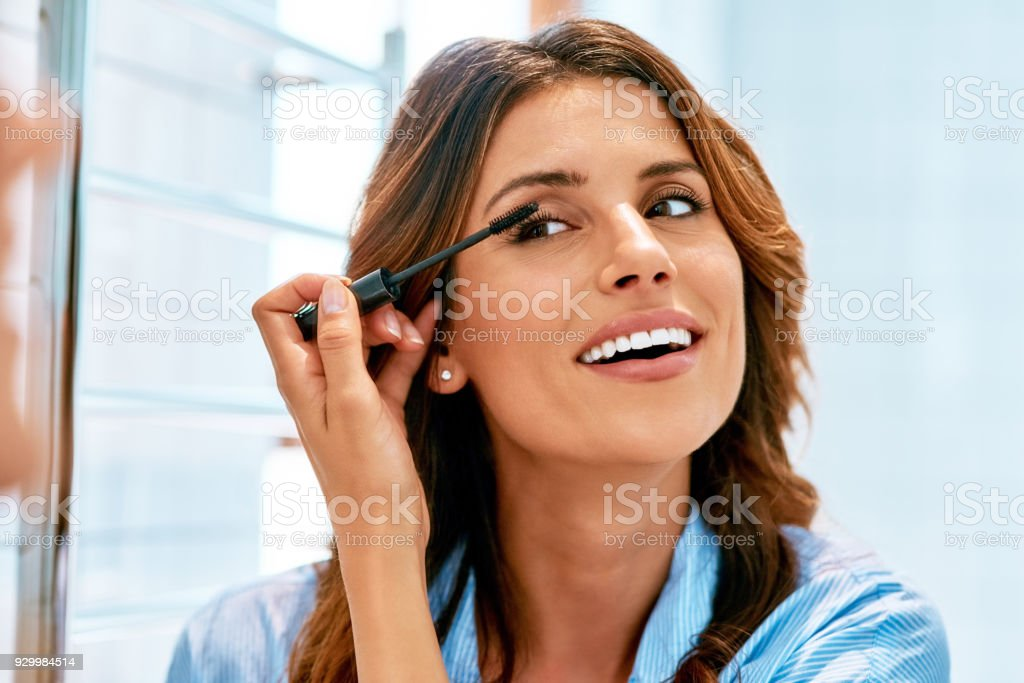 My mascara wand is a magic wand for my eyes stock photo