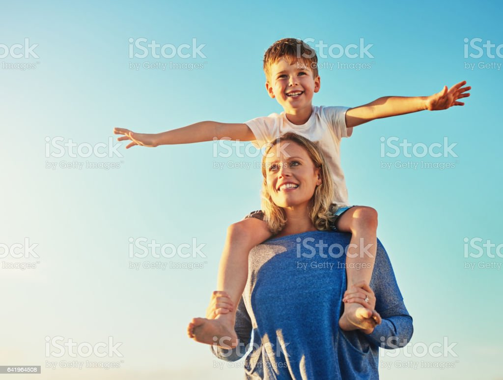 My mom is awesome! stock photo