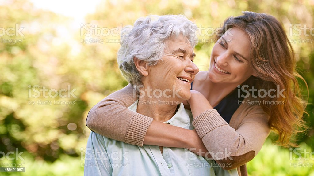 My mom means the world to me stock photo