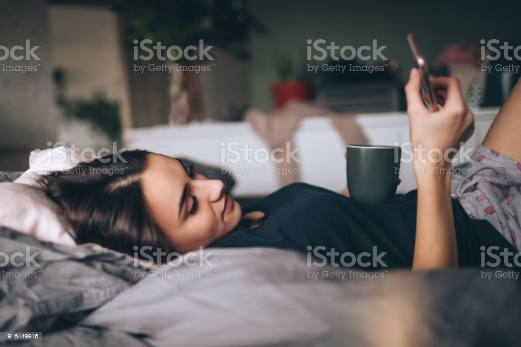 My morning routine stock photo