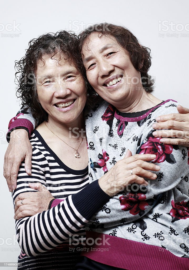 My mother and   aunt royalty-free stock photo