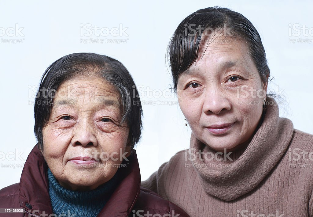 My mother and grandmother royalty-free stock photo