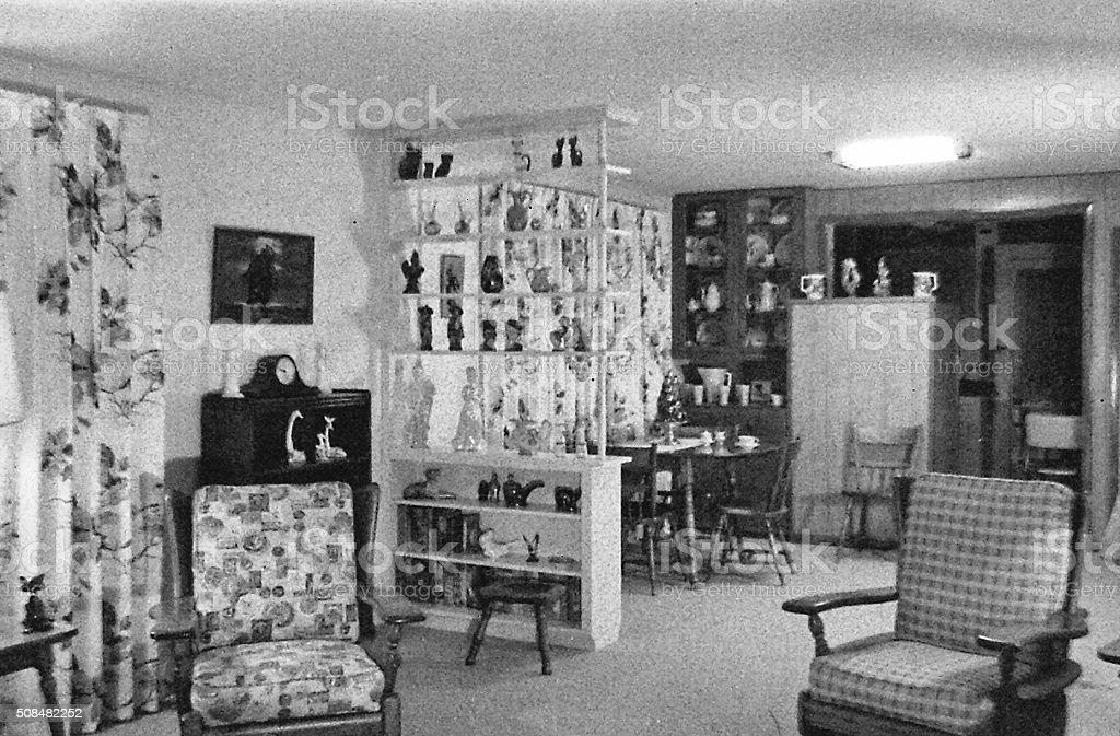 Minha mãe na sala de jantar, 15 de fevereiro de 1965 - foto de acervo