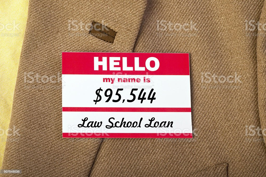 My Name Is Debt. stock photo