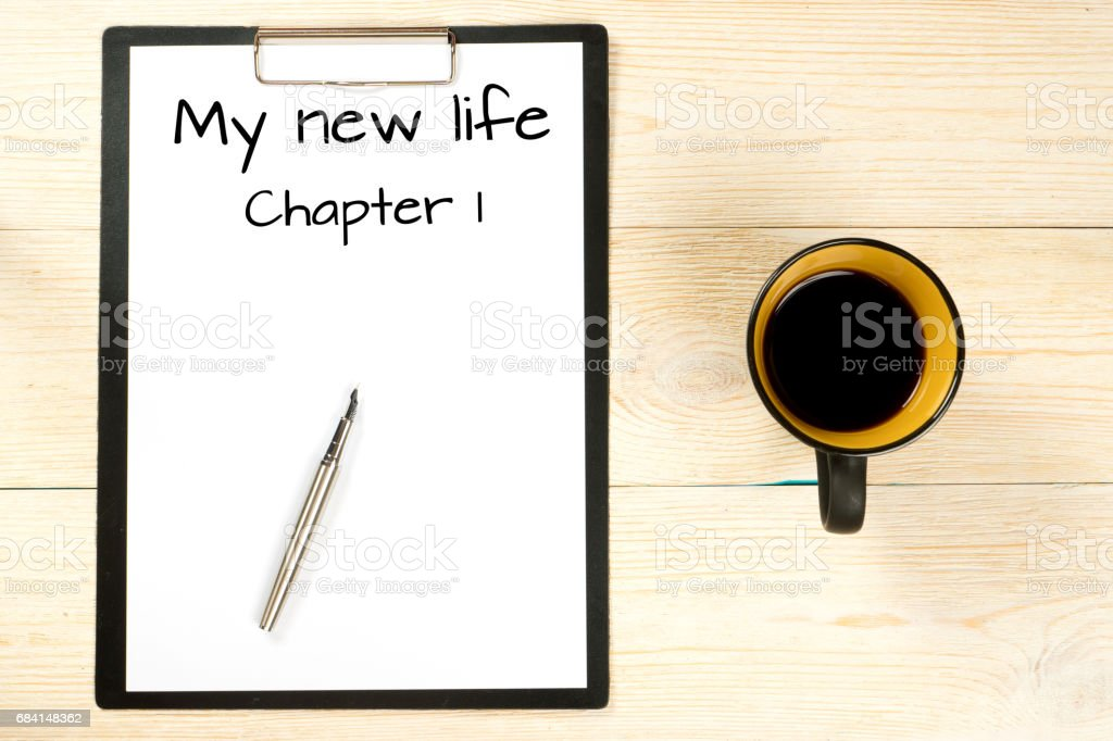 my new life, chapter one stock photo