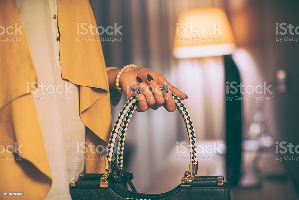 My new purse photo libre de droits