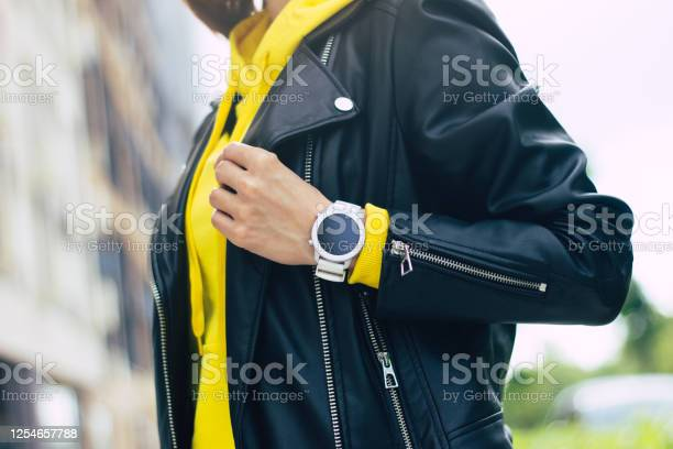 My new smartwatch a halflength photo of a young womans look that of picture id1254657788?b=1&k=6&m=1254657788&s=612x612&h=xxr2q43wj7bocpe93ylyaituosoxv1bakasfe95zmwc=