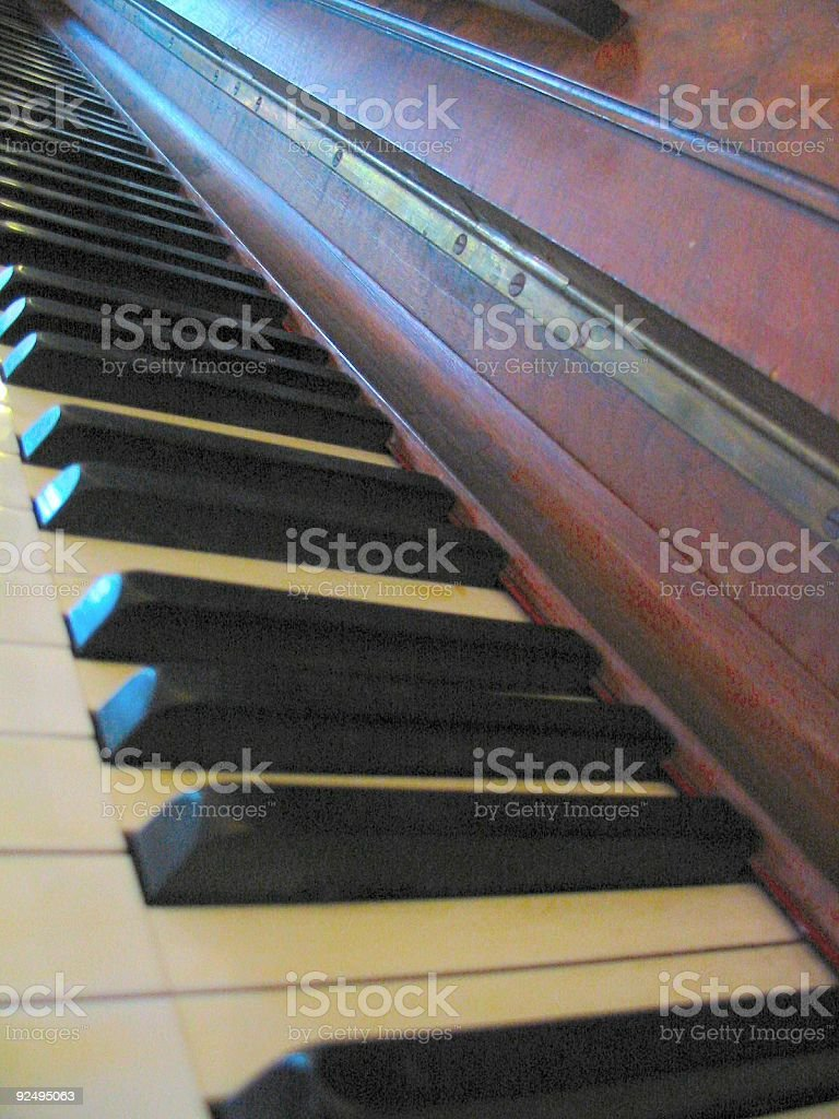 my old piano royalty-free stock photo